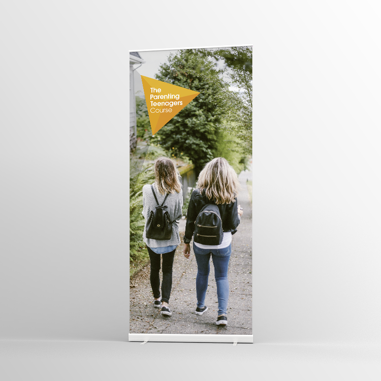 The Parenting Teenagers Course Pull-up banner Version 1 - Standard Pull-up Banner