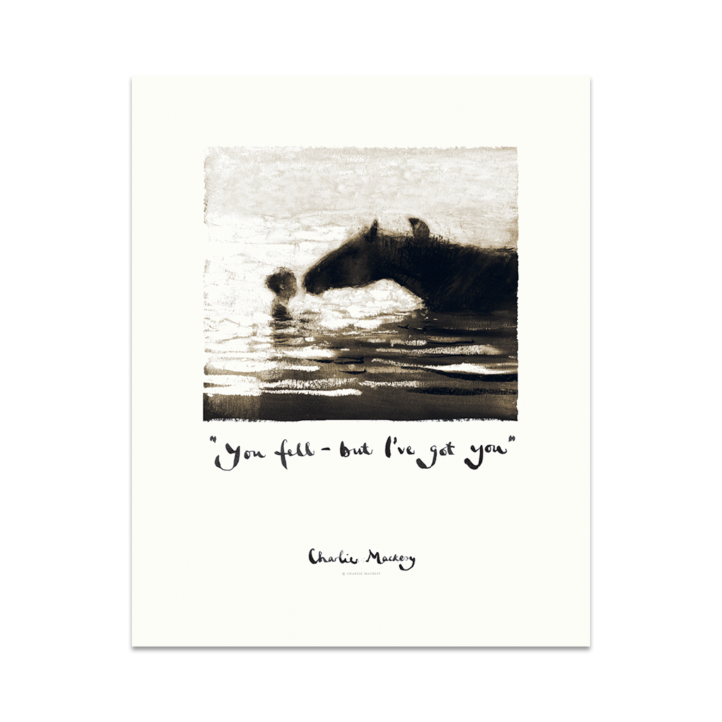 You fell – but I've got you - Print