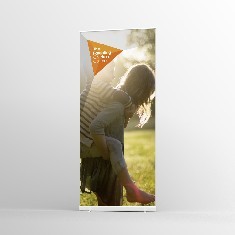The Parenting Children Course Pull-up banner Version 1 - Standard Pull-up Banner