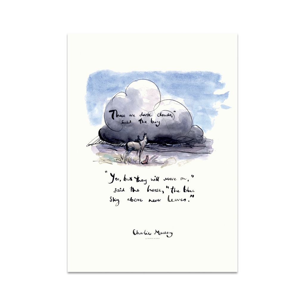The blue sky never leaves - Print
