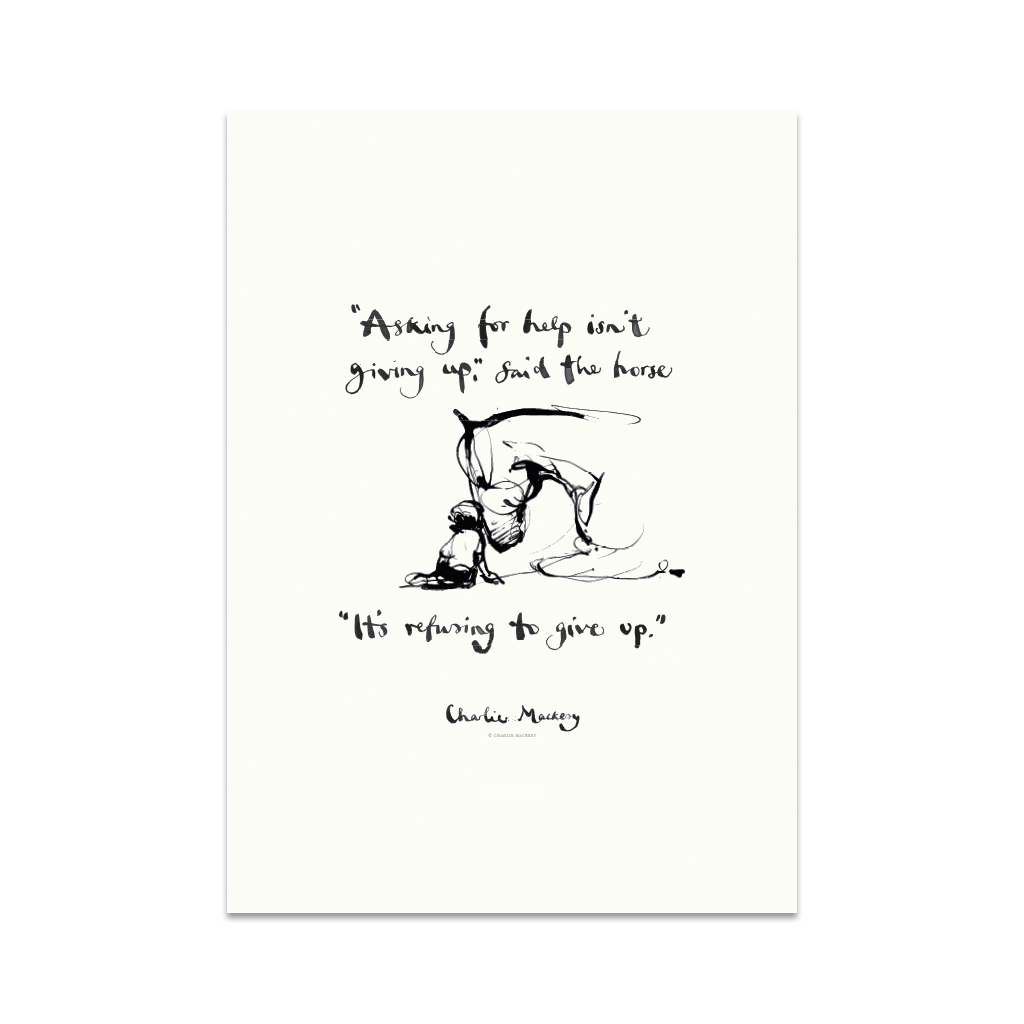Refusing to give up - Print