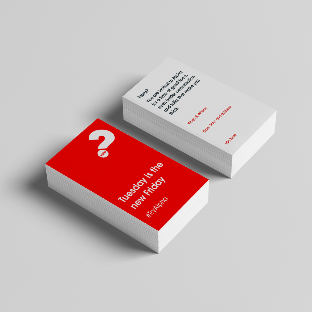 Alpha Invite Wallet Cards (2019) Red - Wallet Card V5