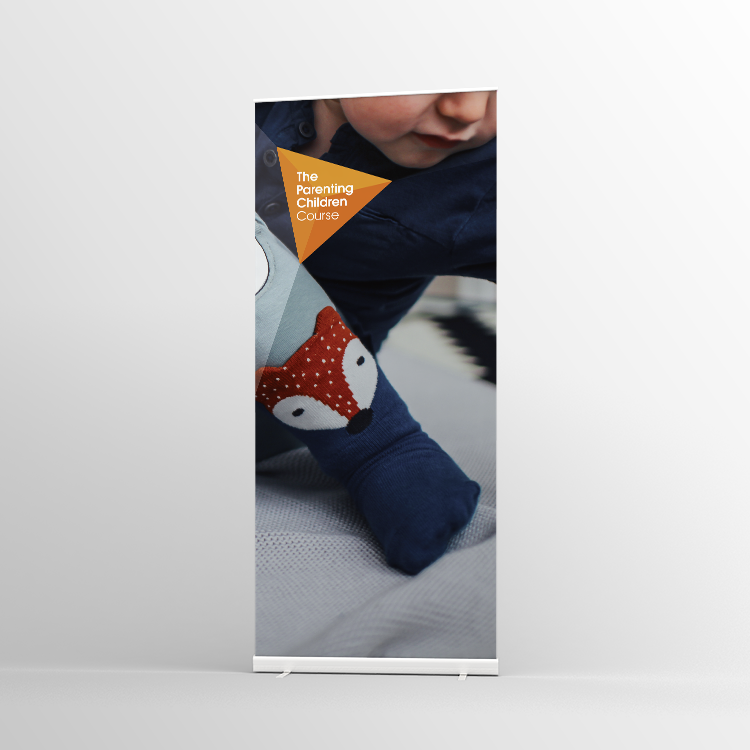 The Parenting Children Course Pull-up banner Version 3 - Standard Pull-up Banner