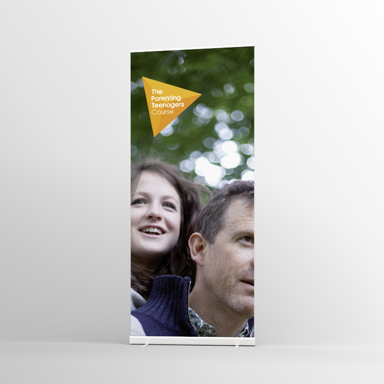 The Parenting Teenagers Course Pull-up banner Version 6 - Standard Pull-up Banner
