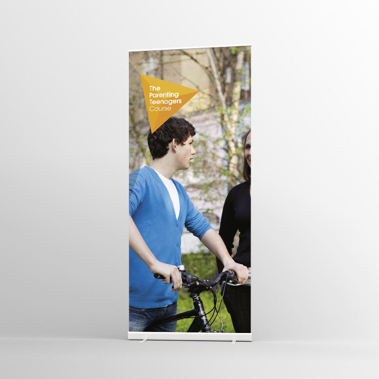The Parenting Teenagers Course Pull-up banner Version 5 - Standard Pull-up Banner