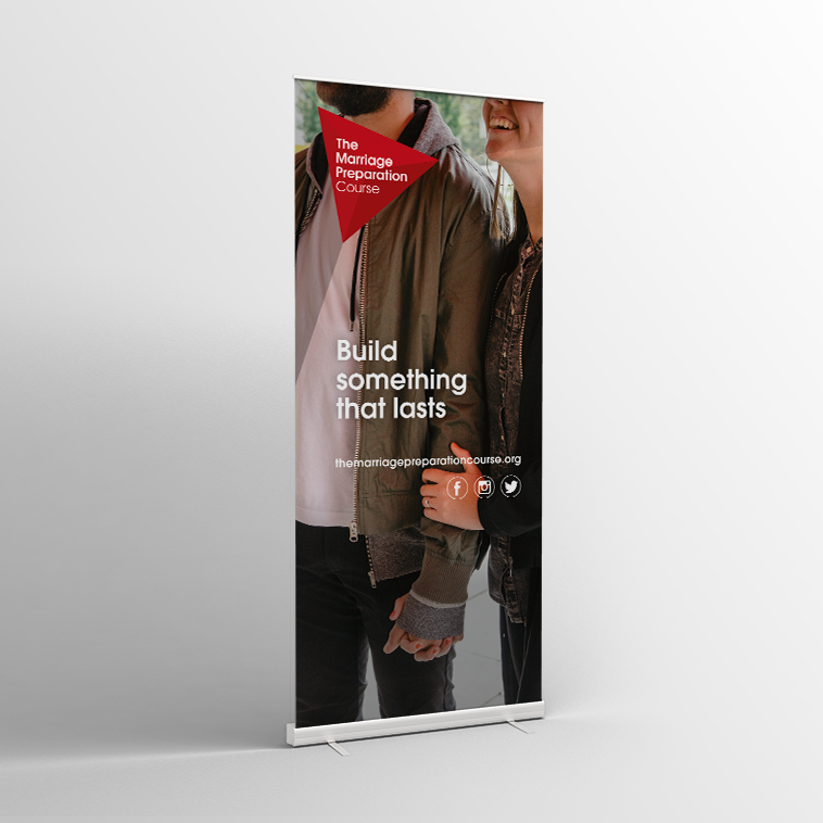 The Marriage Preparation Course Spring Pull-Up Banner V1 - Standard Pull-up Banner