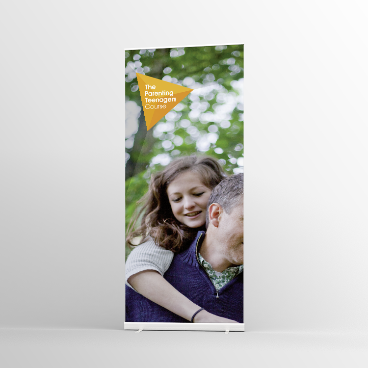 The Parenting Teenagers Course Pull-up banner Version 3 - Standard Pull-up Banner