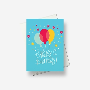 Balloons to greet you - Greetings card