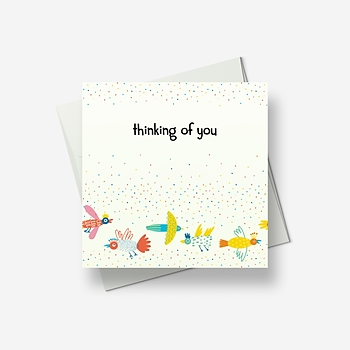 Yes, I am thinking of you - Greetings card