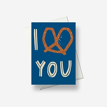 I know you like a clear message - Greetings card