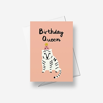 Birthday Queen - Greetings card