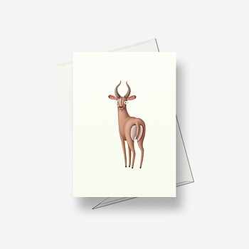 Crazy deer - Greetings card
