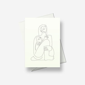 Mother and child (2) - Greetings card
