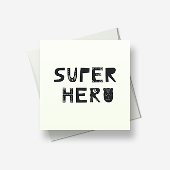 Super hero - Greetings card
