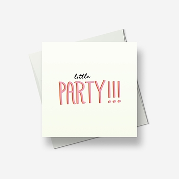 Little party - Greetings card