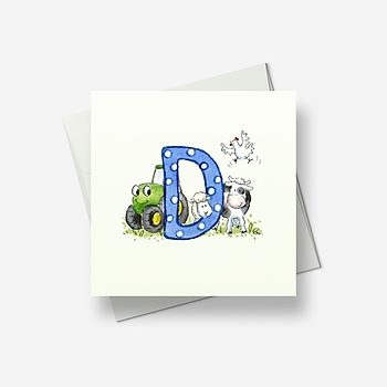 D stands for... - Greetings card