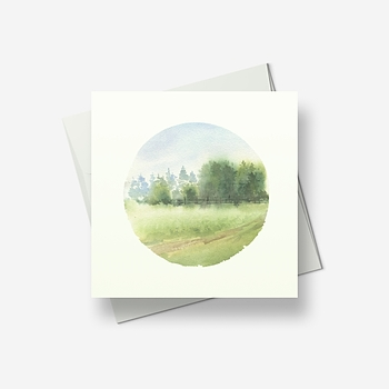 Wispy glade - Greetings card