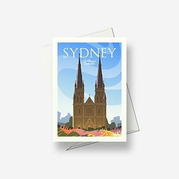 Sydney St Mary's Cathedral - Greetings card