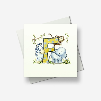 An F for... - Greetings card