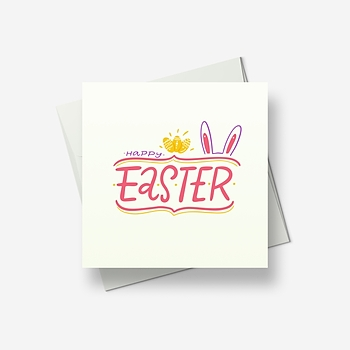 Easter wishes from Rabbit - Greetings card