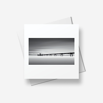 Clevedon Pier - Greetings card (square)