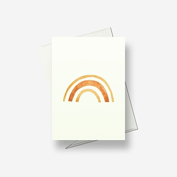 Rainbow - Greetings card
