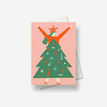 Special dress for Christmas - Greetings card
