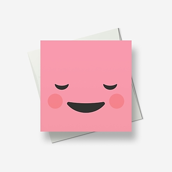 I'm feeling very contented - Greetings card