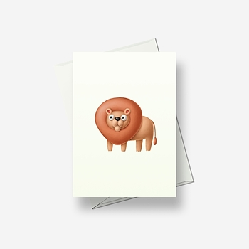 Crazy lion - Greetings card