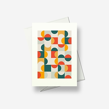 Squares and circles - Greetings card