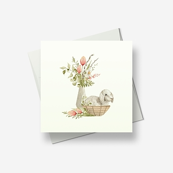 Portrait of Spring - Greetings card