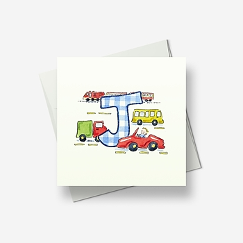 J stands for... - Greetings card