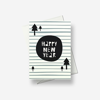 Abstract New Year - Greetings card