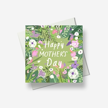 Bright flowers for mother's day - Greetings card
