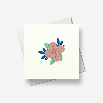 A flower message - Greetings card
