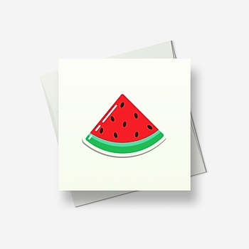 Watermelon - Greetings card