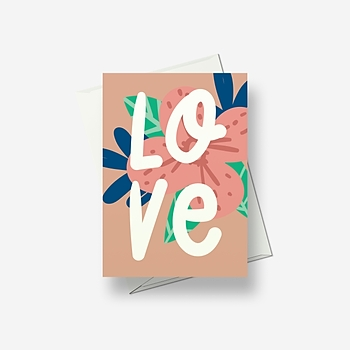 A simple message of love - Greetings card