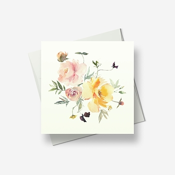 A delicate Spring bouquet - Greetings card
