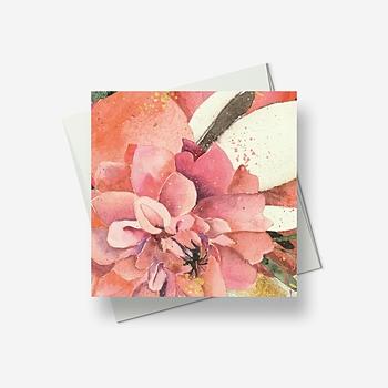 Pink blooms - Greetings card