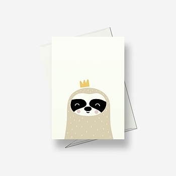 I think I'm a badger - Greetings card
