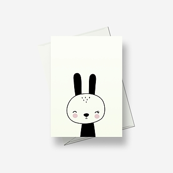 I'm a sleepy rabbit - Greetings card