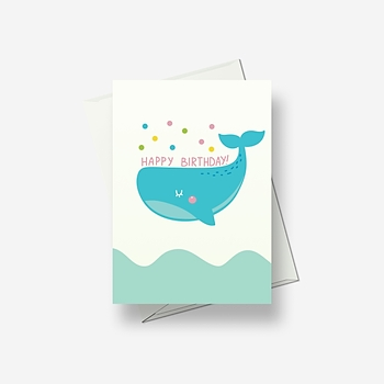 Whale leaps to send greetings - Greetings card