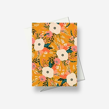 Sunny orange - Greetings card
