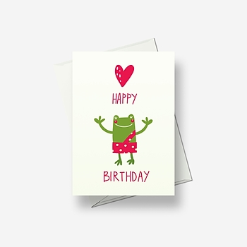 A happy frog sends you greetings - Greetings card