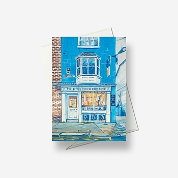 Storefront: Fish And Chips - Greetings card