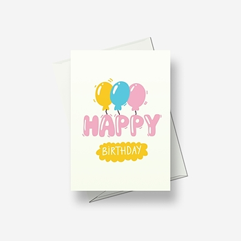 Happy balloons for a Happy Birthday - Greetings card