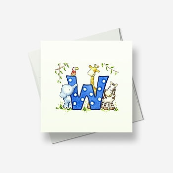 A W for... - Greetings card