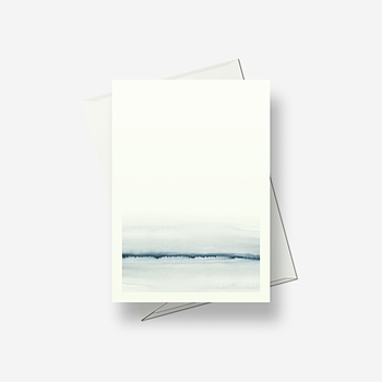 Icy view - Greetings card