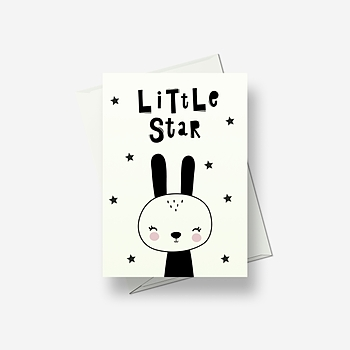 I'm a little star - Greetings card
