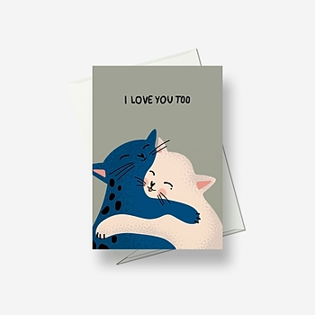 We agree: hugs are the best - Greetings card